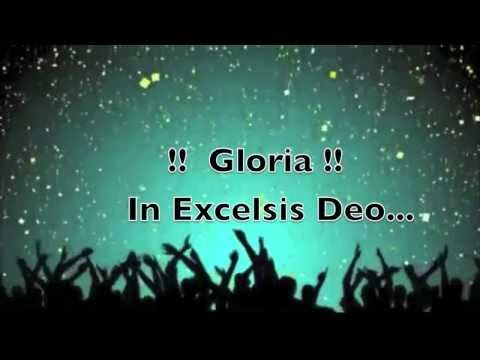 Gloria In Excelsis Deo with lyrics - YouTube   Gloria in excelsis deo, Lyrics