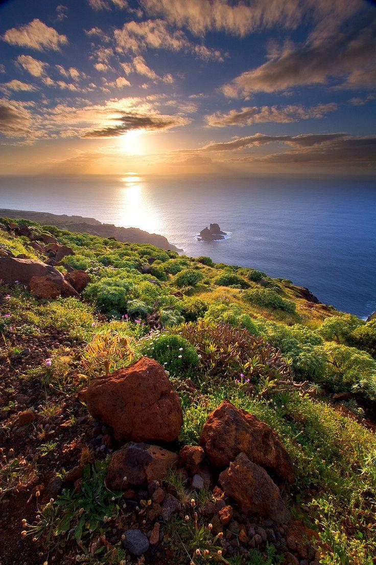 Sunset / Sunrise, Puesta de Sol en Garafía, Garafía, Isla de la Palma, Islas Canarias
