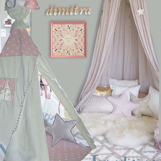 The rooms of your dreams by #teepeelicious #teepee #playroomdecor #nurserydecor #girlsroomdecor  #boho #romanticdecor #canopy #canopybed #cushions #giftideas #decoration