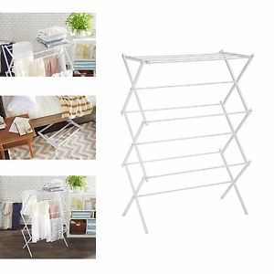 a clothes metal drying rack folding laundry hanger foldable home air drying cloth