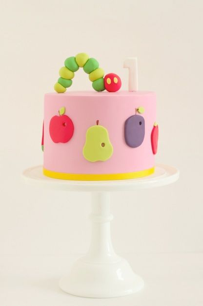 Hungry Caterpillar cake.
