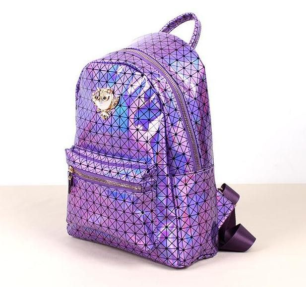 Holographic Owl Backpack