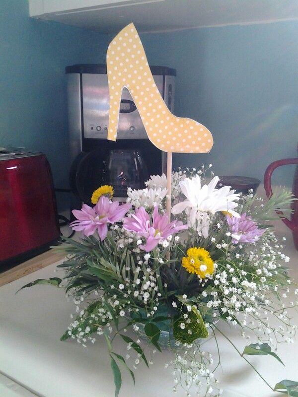 High heeled shoe centerpiece. Beautiful! Thanks Kathy! - 57 Best Shoe Centerpieces Images On Pinterest High Heels, Paper