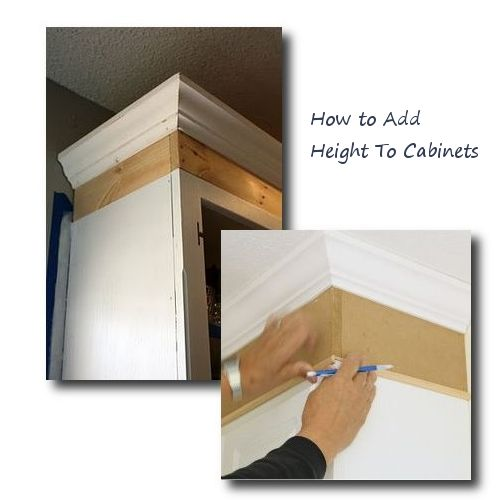 how to add height to kitchen cabinets how to add height to cabinets furniture hardware 16767