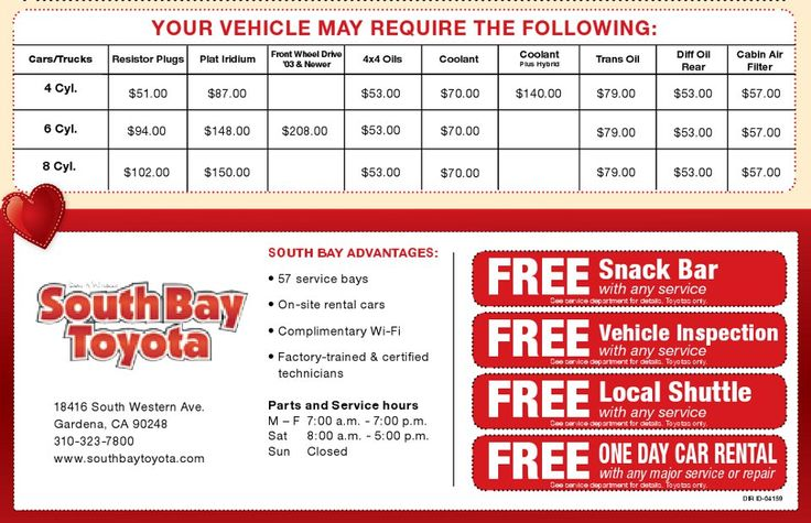 SouthBayToyota February Service Coupons part two