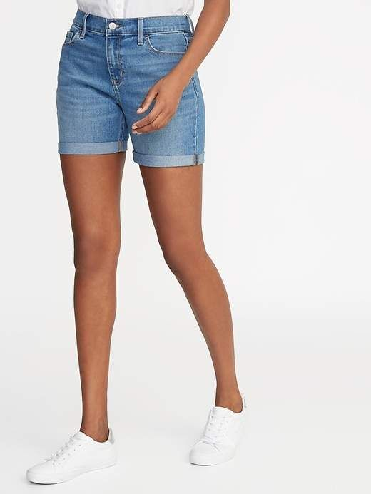 Mid-Rise Jean Shorts For Women — 5-Inch Inseam