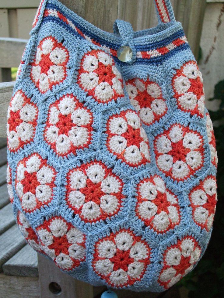 "African flowers bag ""Polkadot"""