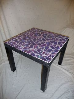 Push the Other Button: Recycled CD Mosaic Table