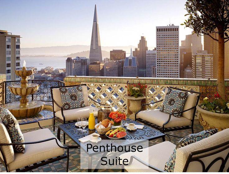 penthouse suite, balcony, skyline views, downtown san francisco