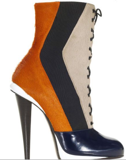 fendi-fall-2012-victorian-color-block-pony-hair-bootie-mustard-burgundy-hunter