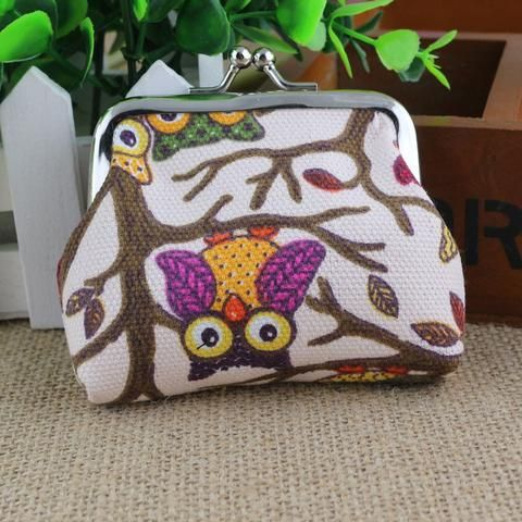 Women's Owl Purse - Beige