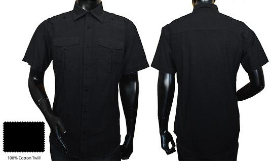 dress to kill in this sleek black woven from Rag Dynasty