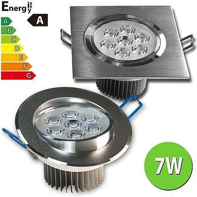 Cool LED Einbaustrahler Einbauleuchte Lampe Spot W W W W Aluminium geb uac