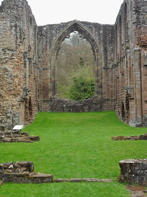 Ruins of Lilleshall Abbey, 12th century, England.