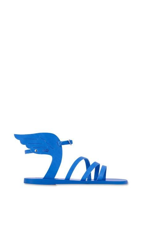 Ikaria Sandal In All Blue by Ancient Greek Sandals for Preorder on Moda Operandi