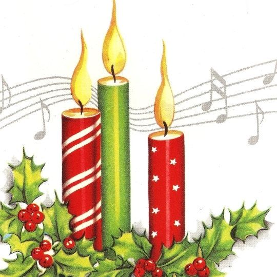 183 best Vintage Christmas Candle Greeting Cards images on ...