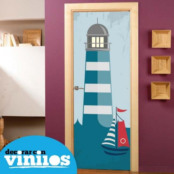 Puerta infantil faro decoraci n de habitaciones infantiles for Habitaciones con puertas correderas