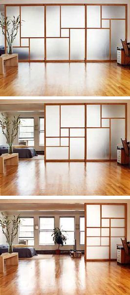 Sliding wall system for a tiny house. Inspired by Japanese traditional houses