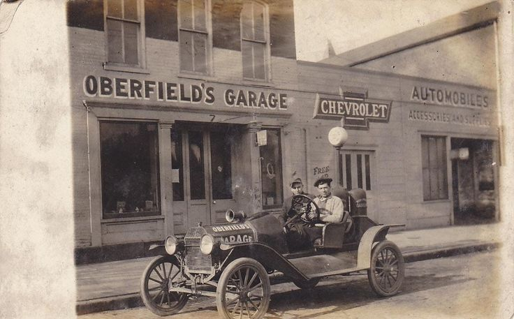 Oberfield's Garage, Chevrolet Dealership, Newark, Ohio Car