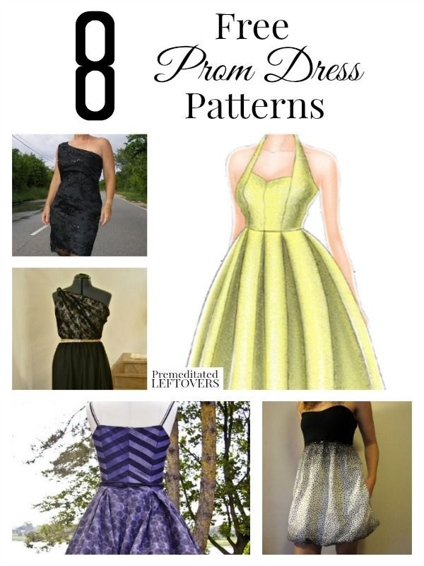 Save money this year by making your own prom dress. These 8 free prom dress patterns can be easily altered to create your dream dress!