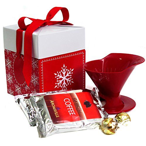 Holidays Coffee Gift Set with Melitta Pour Over Brewer for Christmas  Coffee Gift Set for Christmas Coffee Lovers Gift  Coffee Gift Basket -- Check this awesome product by going to the link at the image.
