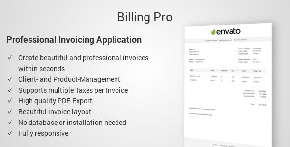 Billing Pro - Professional Invoicing Application  Billing Pro is - professional invoices