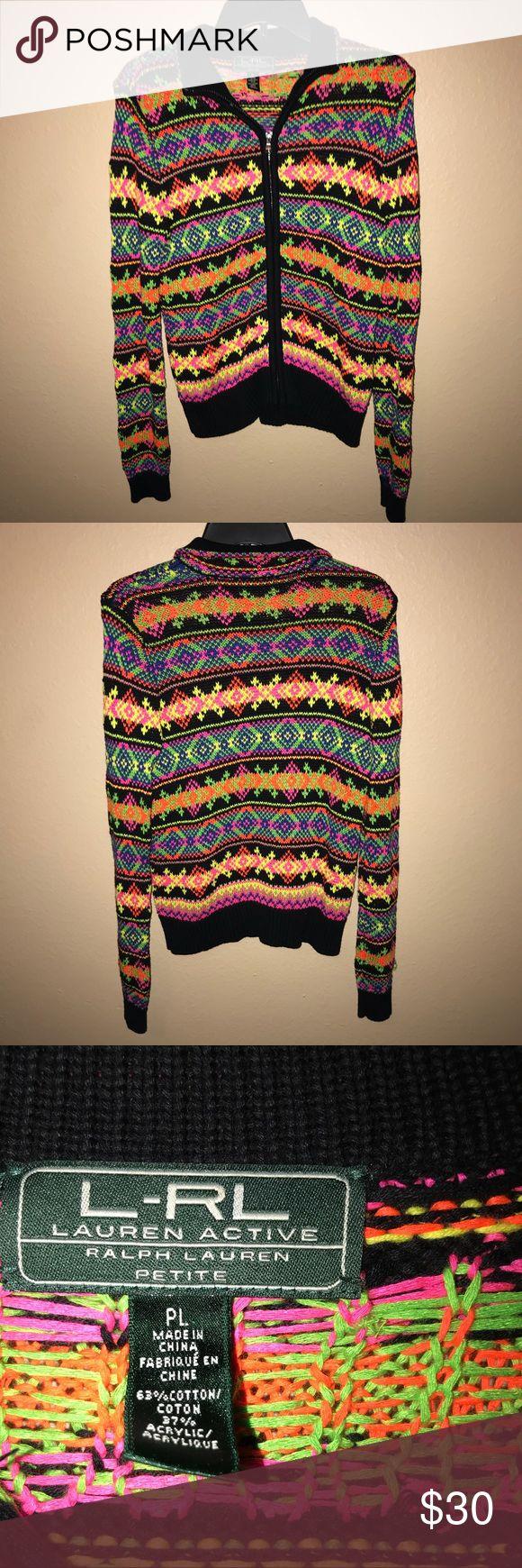 🌸RalphLauren Active Sweater ✨ Neon colored Active Ralph Lauren sweater Petite large Lauren Ralph Lauren Jackets & Coats