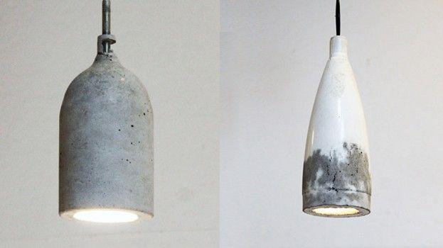 DIY: Concrete pendant lamp http://roomed.nl/diy-concrete-pendant-lamp/