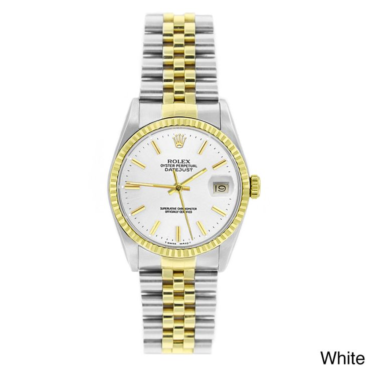 Refurbished Pre-owned Rolex Men's Datejust Two-tone 18k Gold and Stainless Steel Watch