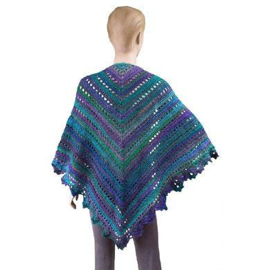 Hope you enjoy!This is a super easy shawl pattern with an easily memorized repeat. No need to continuously look at the pattern for the body of the shawl! Add a three-row border and you're done. Lovely!For more of my patterns please see www.gourmetcrochet.bigcartel.com