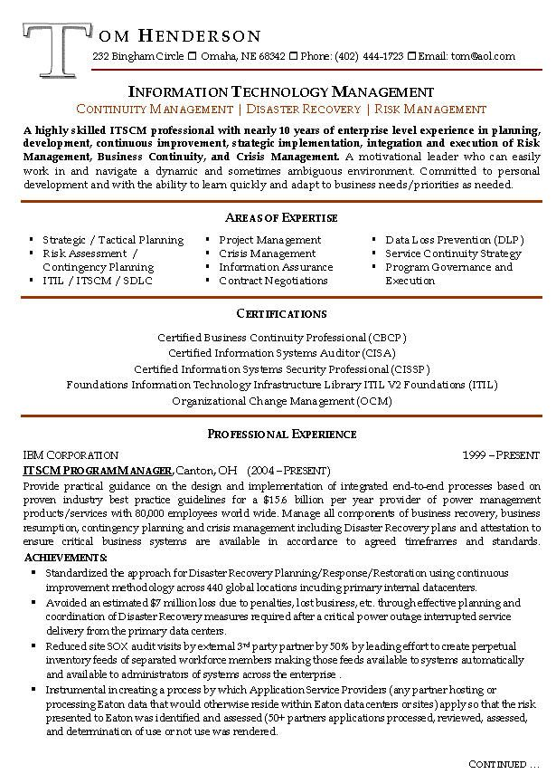 Resume Examples For Managers | Resume examples, Resume ...