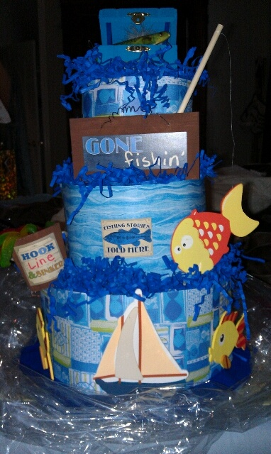 A Fishing Theme Diaper Cake I Made For A Friend My