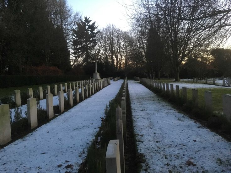 First World War - Canadian Graves in the Snow - December 2017