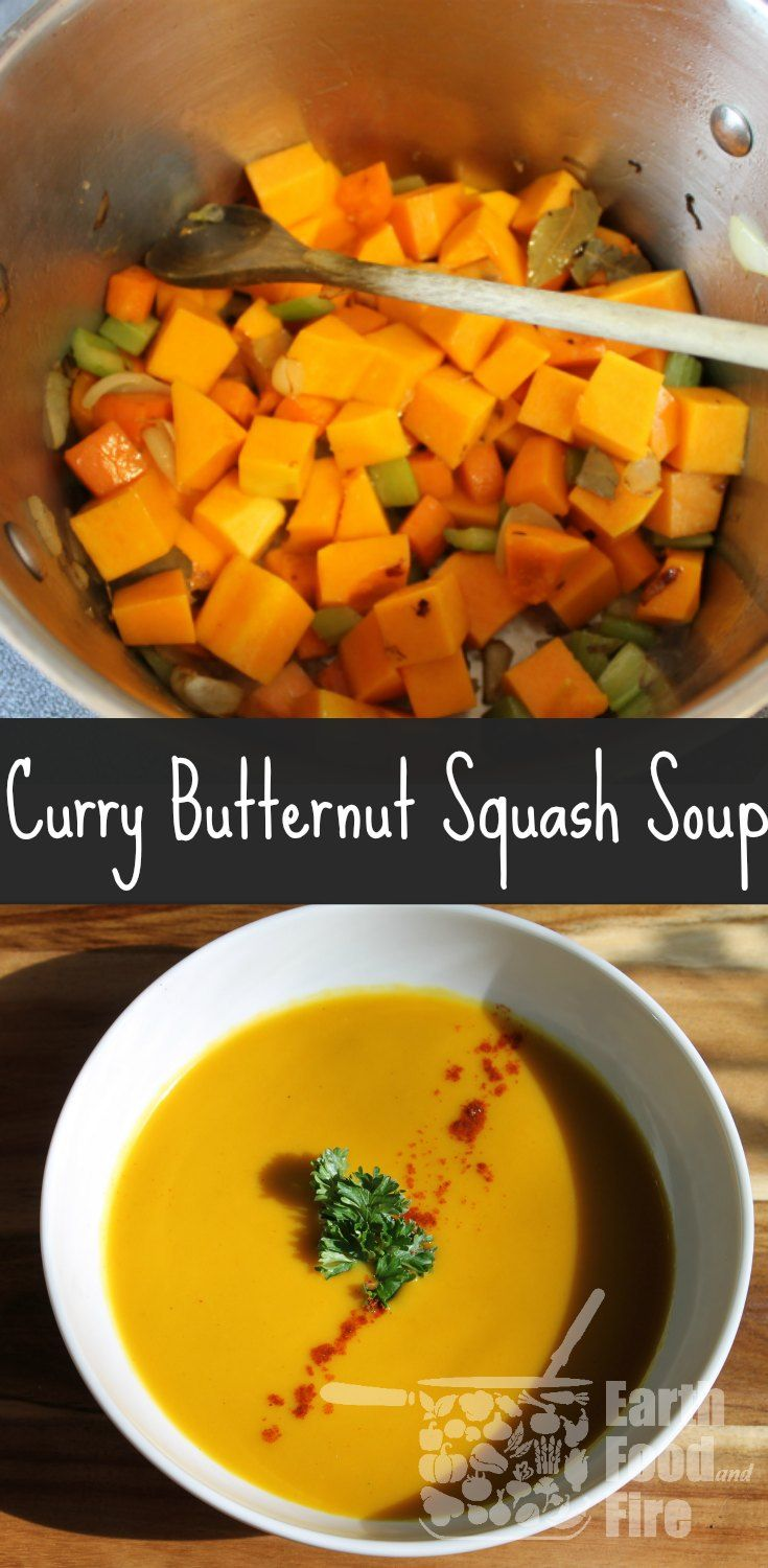 Garam Masala adds a wonderfully light hint of curry to this butternut squash soup. Easy to make and ideal as a make-ahead freezer meal. via @earthfoodfire