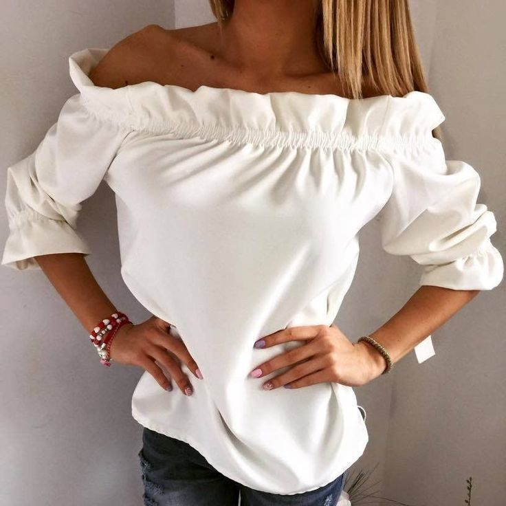 Women's Fashion strapless Shirt Top Tee