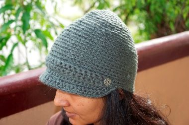 Woolen crocheted caps