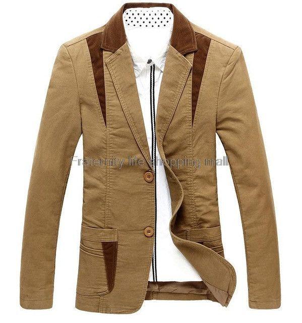 Brand autumn mens casual blazer suit men blazer cultivating cotton mens leisure blazer suits tide blazer big Asian size M-6XL