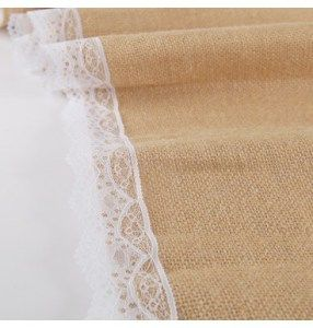 HESSIAN-LACE-RUNNER