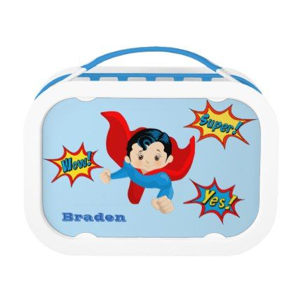 Super Hero Kids Personalized Lunch Box - red gifts color style cyo diy personalize unique