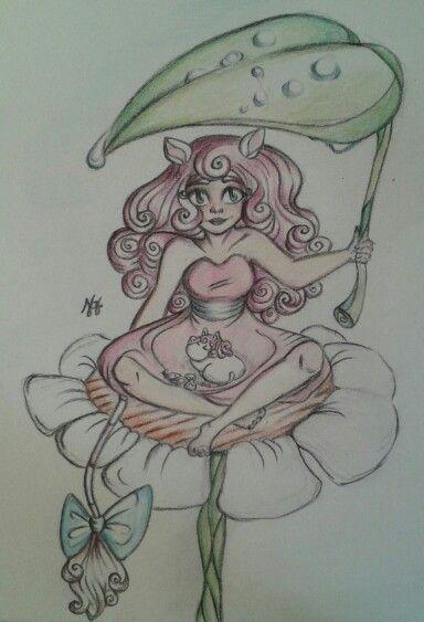 Art trade for Deviantart, Moomin Pie
