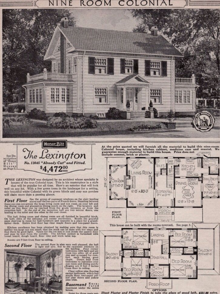 Dream home for real!!!!! Sunporch on 1930s center hall colonial. This floor plan is almost an exact match to our 1927 home.