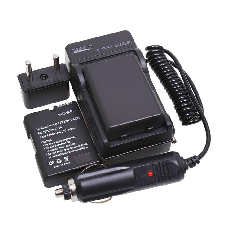 >> Click to Buy << 2Pcs EN-EL14 EN EL14 Repalcement Batteries +Charger +Car Charger + Plug For Nikon Coolpix P7000 P7100 D3100 D3200 D5100 1400mAh #Affiliate
