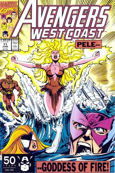 Avengers West Coast # 71 by Tom Morgan & Dan Bulanadi
