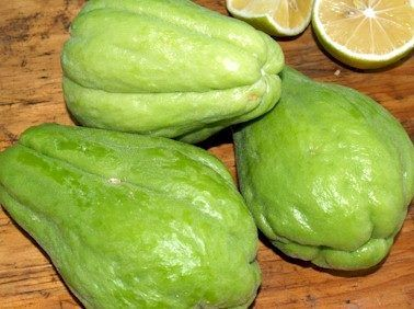 HEALTH BENEFITS OF CHAYOTE: - Reduces the risks of heart diseases - Helps to lower hypertension - Anti-aging, anti-inflammatory, anti-cancer - Helps with thyroid metabolism - Alkalizing and blood cleansing - helps improve skin conditions - Prevents leg muscle cramps - Improves mental performance - Improves bone health