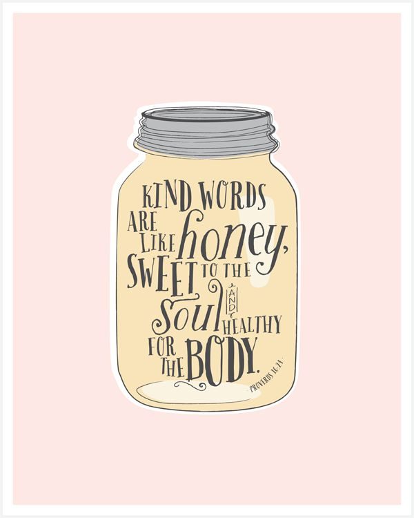 Sweet Like Honey - Free Printable - http://www.incourage.me/share/#!/single/286