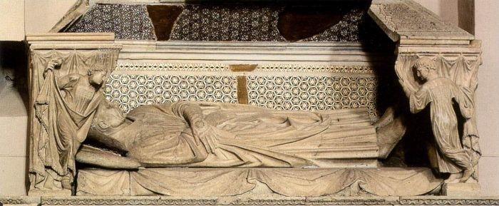 Tomb of Cardinal de Braye (detail) by ARNOLFO DI CAMBIO #art