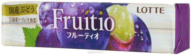 """156 = Lotte """"Fruitio Grape"""" жевательная резинка, 21 г в интернет-магазине OZON.ru"""