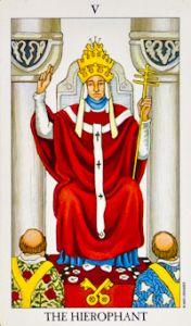 Find out what songs describe the tarot card meanings in the hierophant tarot card