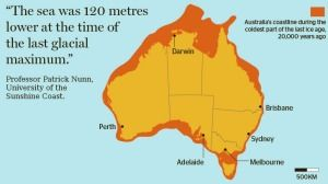 The sea level around Australia was much lower during the last ice age. <i>Graphic: Monique Westermann</i>