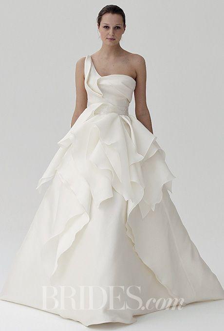 Brides.com: . Wedding dress by Peter Langner